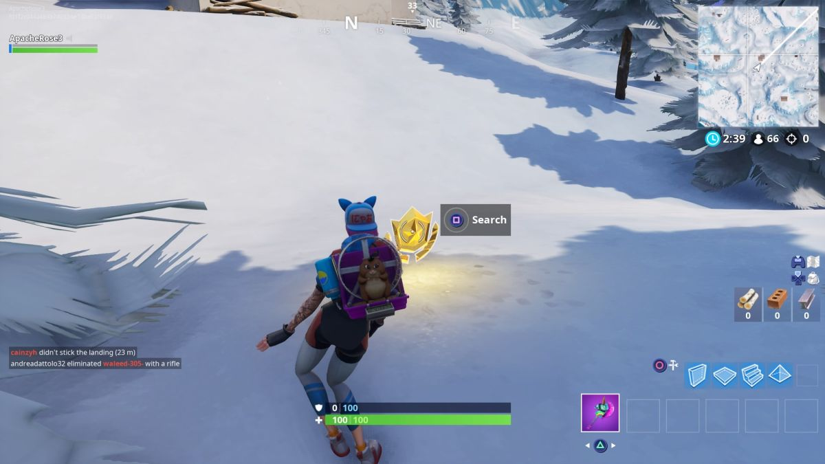 Where To Search Between Three Ski Lodges In Fortnite