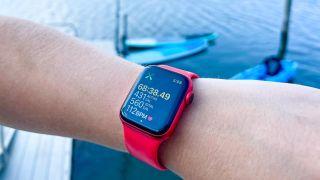 Apple Watch paddleboarding