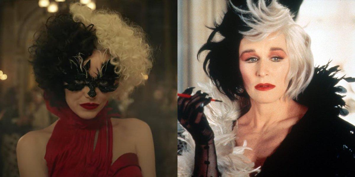 Emma Stone's Cruella Look That Pays Homage To Glenn Close's 101 Dalmatians Character