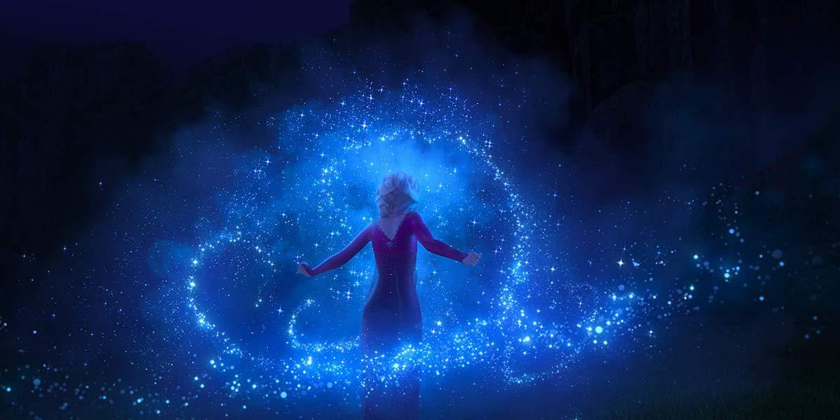 Elsa and her magic ice powers in Frozen II