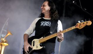 Geddy Lee performs with Rush at the Sleep Train Pavilion in Concord, California