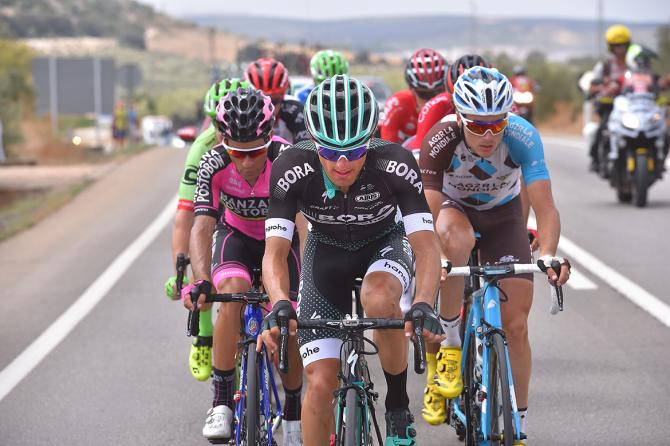Rafal Majka leading the breakaway on the Vuelta a España's 14th stage
