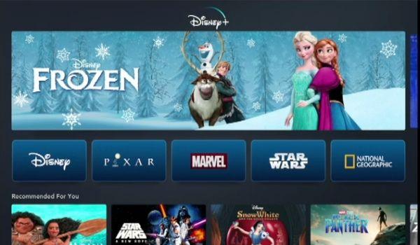 Disney+ app screen