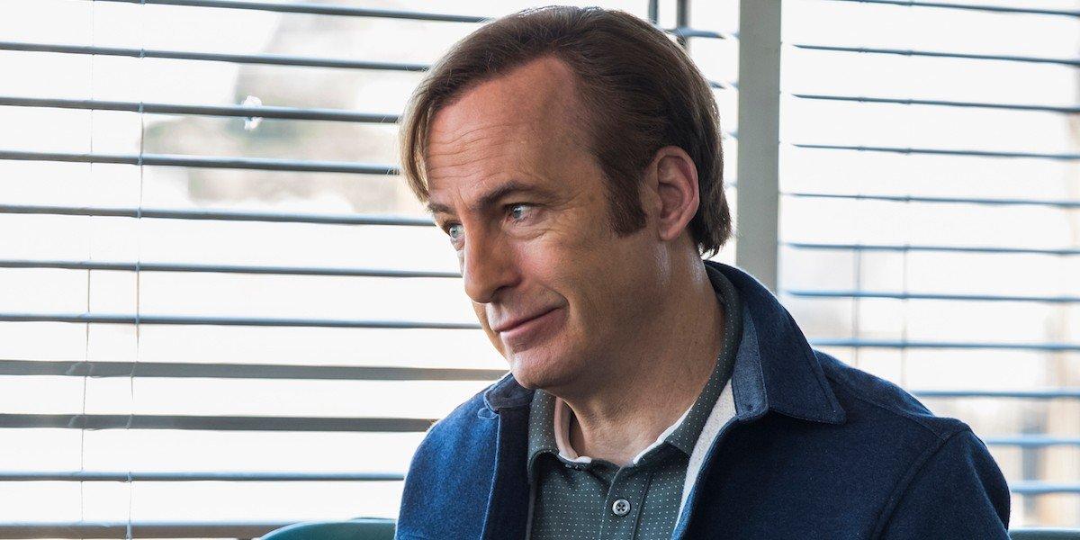 Jimmy McGill (Bob Odenkirk) looks unimpressed in Better Call Saul
