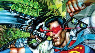 It's the Main Man against the Man of Steel in Superman vs. Lobo