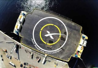 SpaceX will attempt to land a Falcon 9 rocket on it drone ship Just Read The Instructions on Feb. 8, 2015 as part of a reusable rocket technology test. The drone ship is named after the sentient colony ship in the science fiction novels by author Iain M.