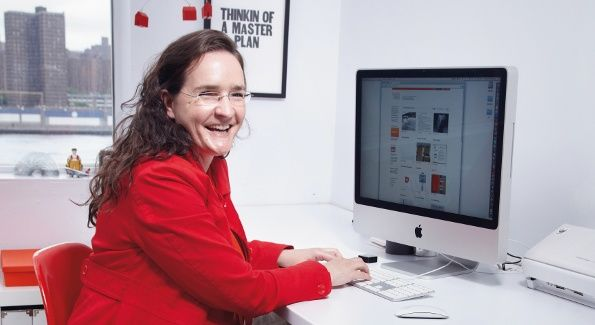 Tina Roth-Eisenberg at her desk