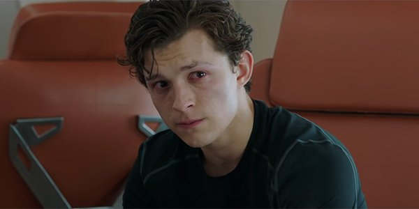 Peter Parker crying in Spider-Man: Far From Home