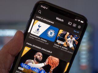 ESPN+ on a phone