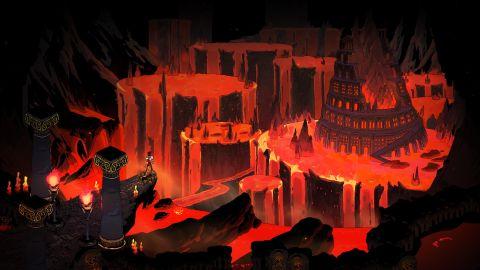 Zagreus mengawasi Hades