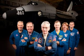 STS 1 and STS-135 Crew Members 4