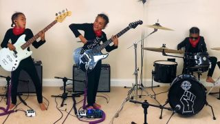 Nandi Bushell plays Audioslave's Cochise on guitar, bass and drums