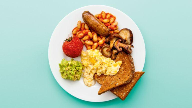Healthy fry-up full English breakfast