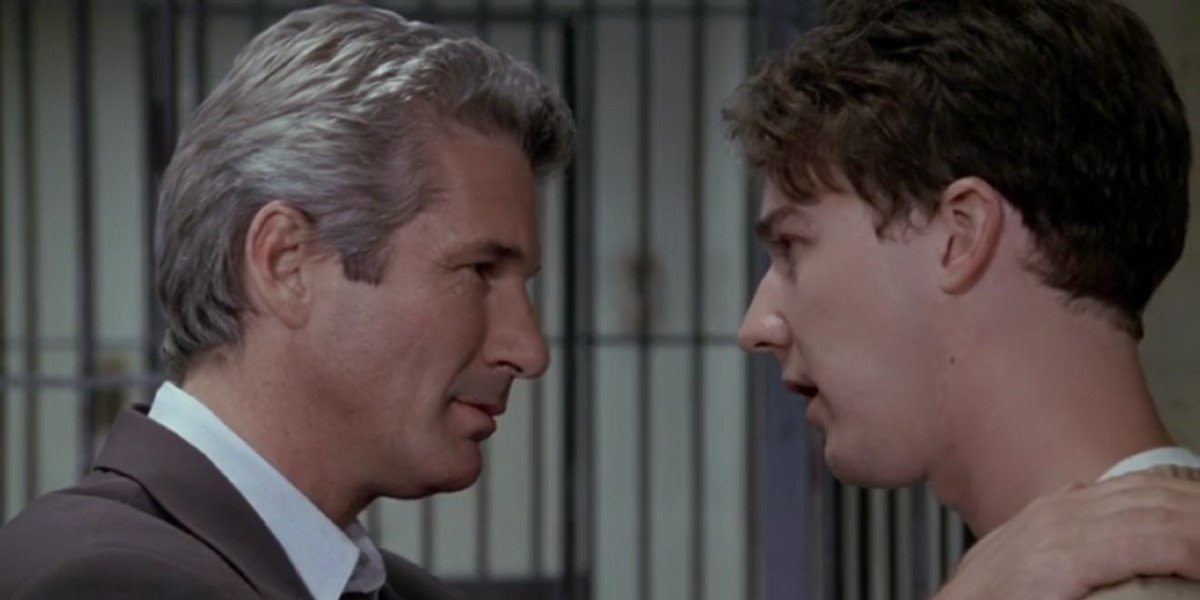 Edward Norton and Richard Gere in Primal Fear