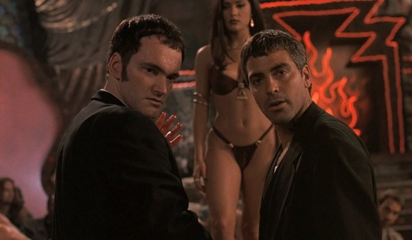 From Dusk Till Dawn Quentin Tarantino and George Clooney turn to face the camera