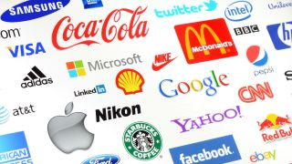 Big brand names and logos