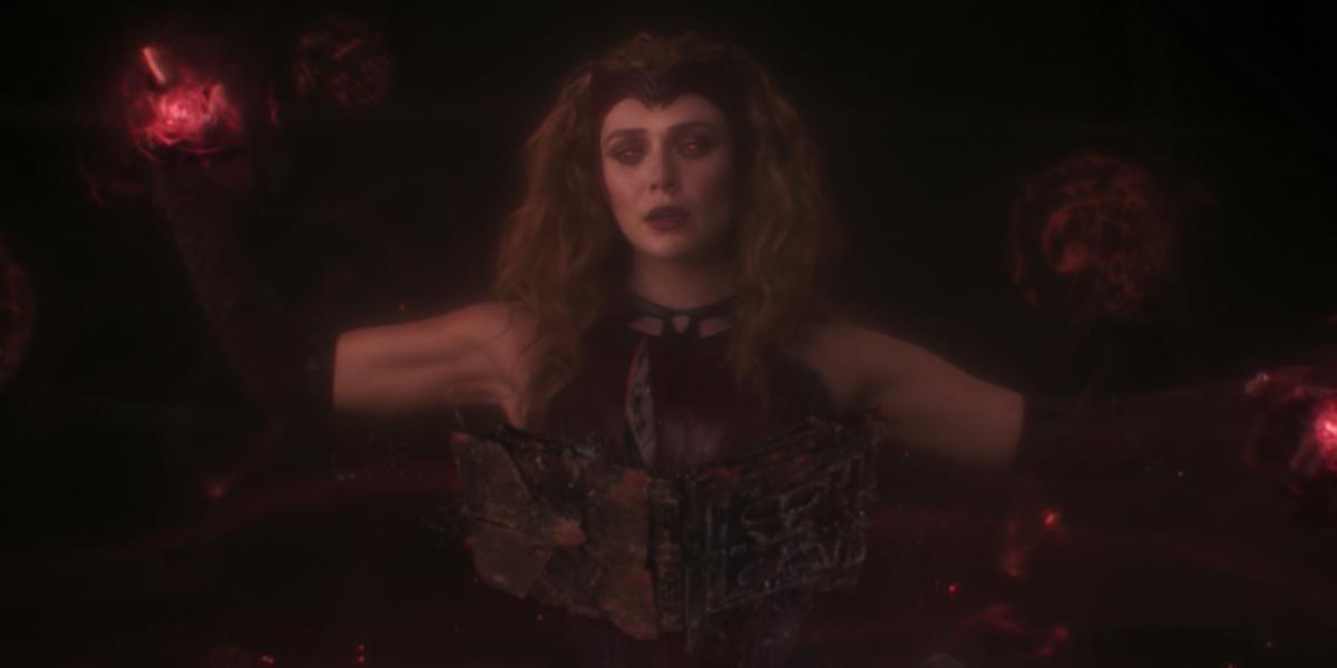 Wanda in the post-credits scene of WandaVision