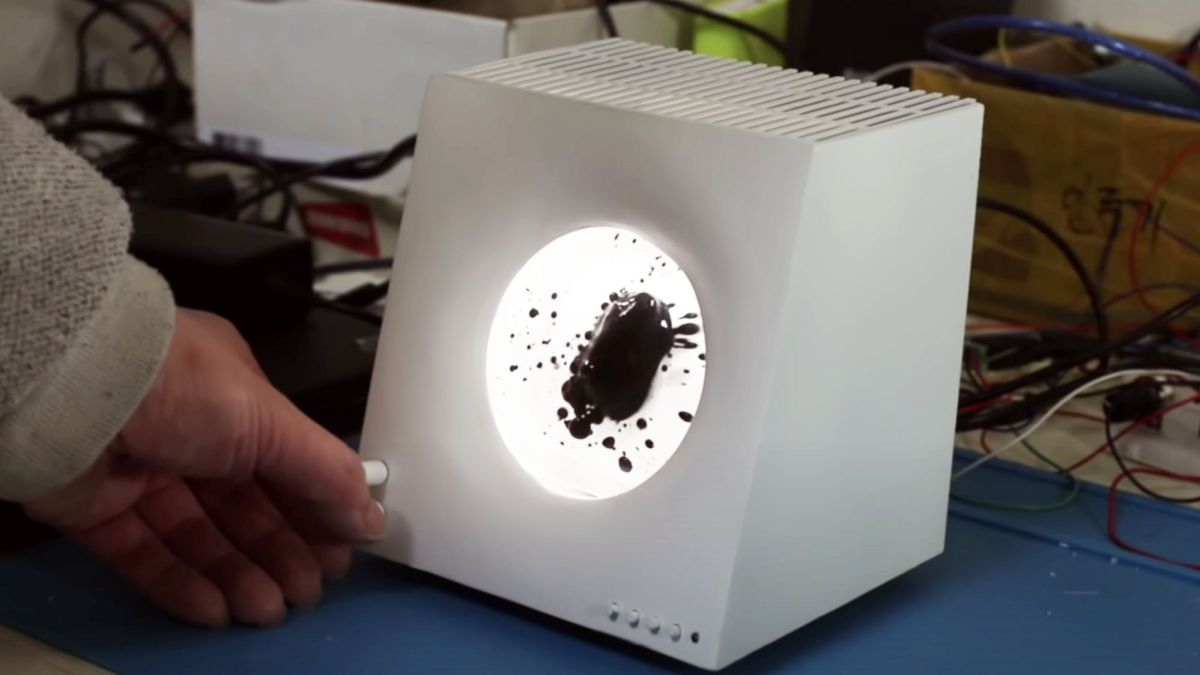This Bluetooth speaker sports a Flubber-like ferrofluid that dances to your tunes - TechRadar