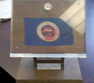 Minnesota's Apollo 11 lunar sample display was found in storage in St. Paul.