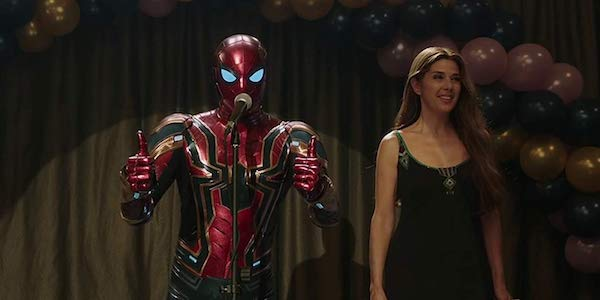 Iron Spider suit and Marisa Tomei's Aunt May, Spider-Man: Far From Home