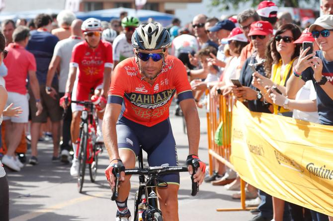 Vincenzo Nibali before the start of stage 9 at la Vuelta