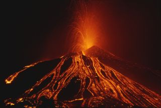 Sicily's Mount Etna, which is Europe's highest active volcano, put on a fiery show for weeks during the summer of 2002.