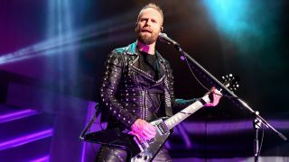 Andy Sneap performing live with Judas Priest