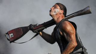Rammstein's Till Lindemann at Melbourne's Big Day Out on January 30 2011