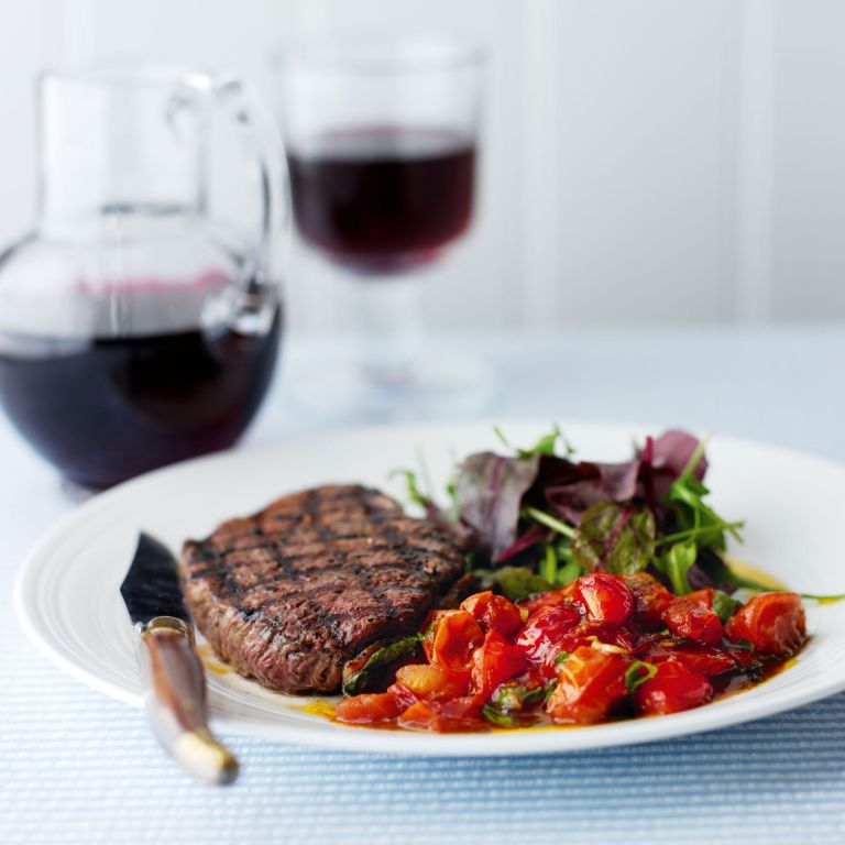 Griddled Rump Steaks with Balsamic Tomatoes recipe-recipe ideas-new recipes-woman and home
