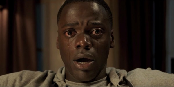 Daniel Kaluuya crying in Get Out