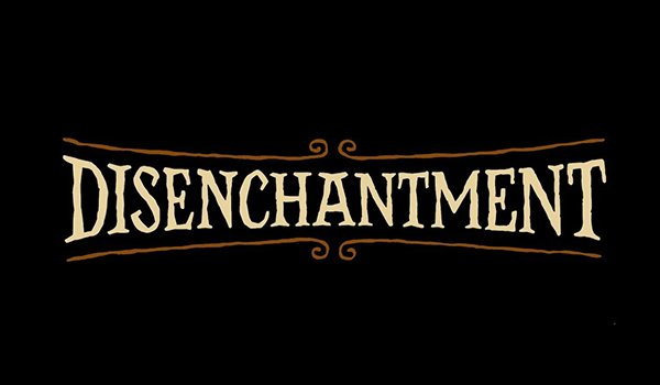 The title card for Disenchantment on Netflix