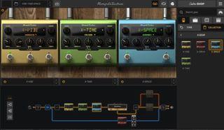 IK Multimedia's X-Gear pedals run in the company's AmpliTube 5 software