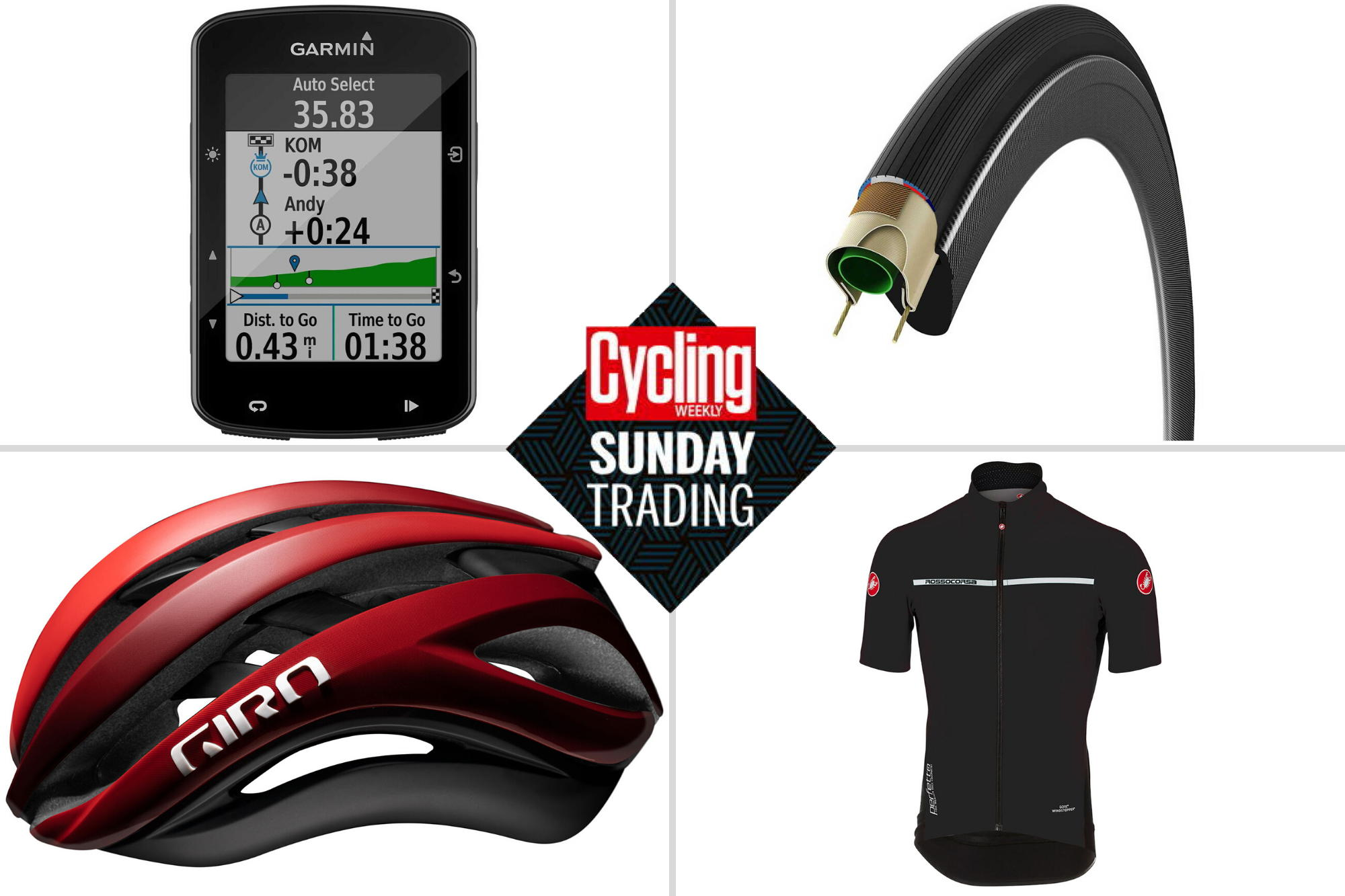 Sunday trading: Half price Castelli kit and £50 off a Garmin