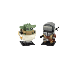 Lego has revealed their adorable, buildable new BrickHeadz from the Mandalorian.