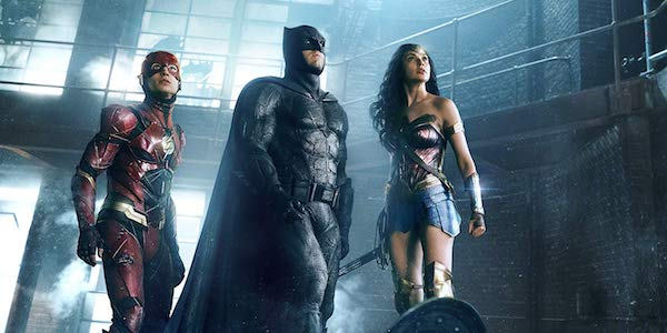 Flash, Batman and Wonder Woman in Justice League 2017 film
