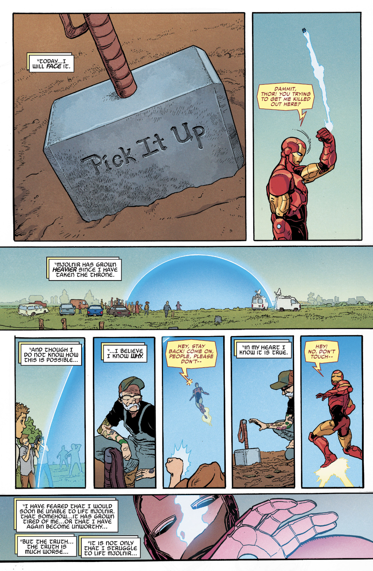 Page from Thor #7 comic