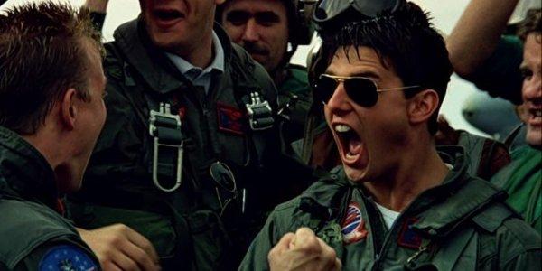 Tom Cruise Maverick Celebrating Wearing Aviators Top Gun
