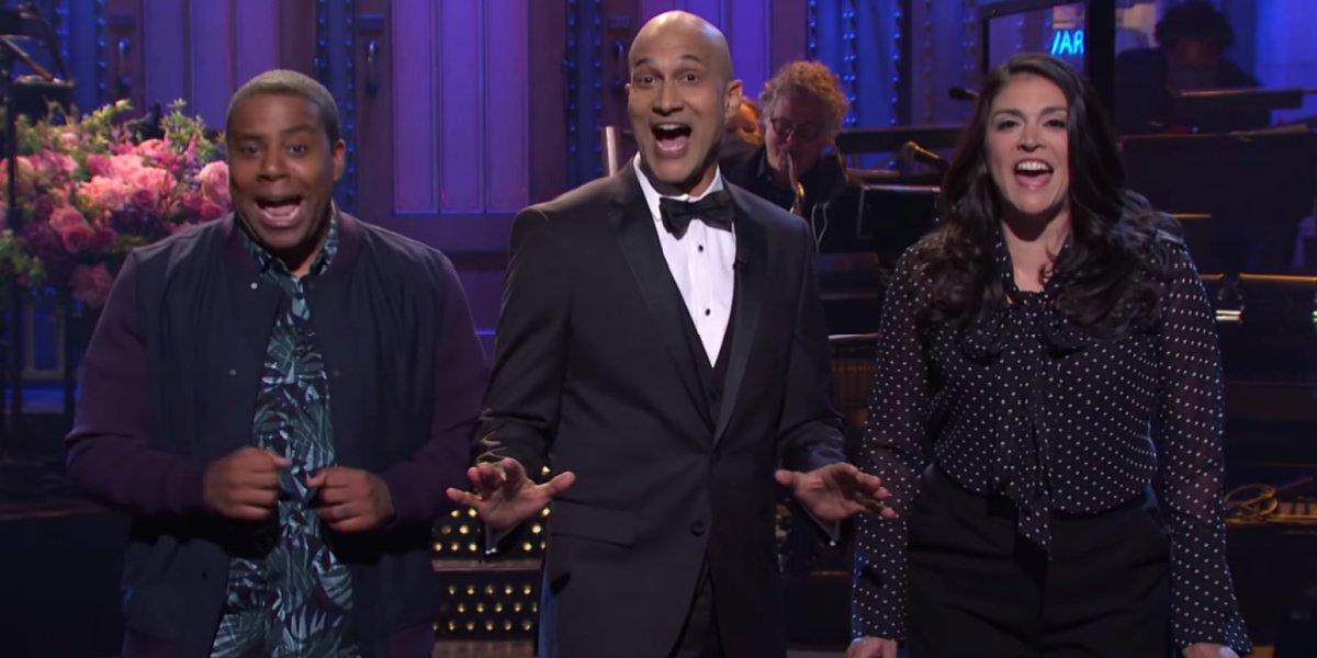 Keegan-Michael Key in his SNL debut on Saturday Night Live.