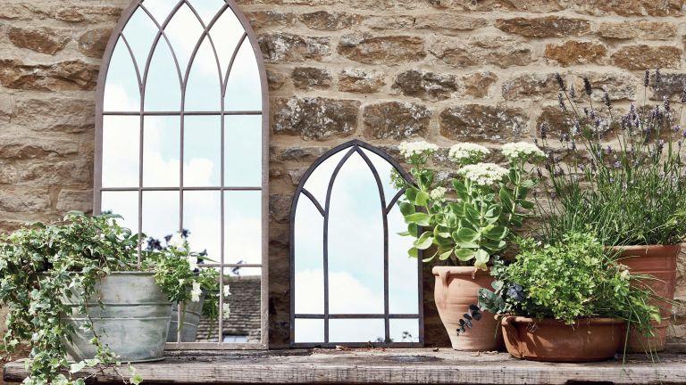 garden mirror ideas: national trust gothic mirrors