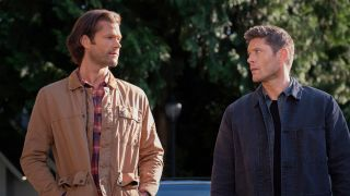 Jared Padalecki (left) as Sam and Jensen Ackles as Dean in The CW's 'Supernatural'