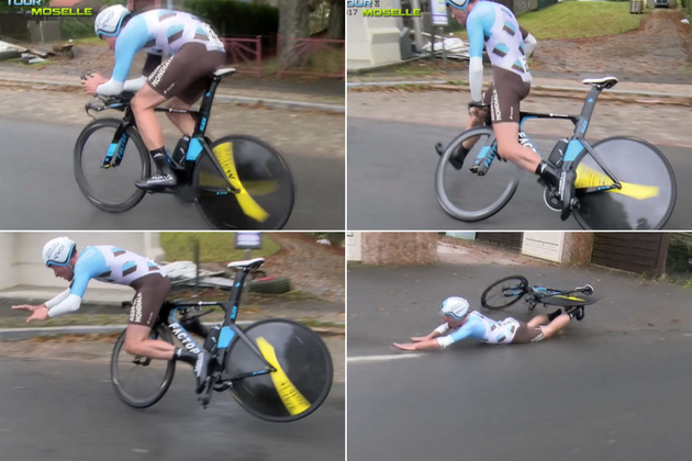 Watch Ag2r Development Rider Suffers High Speed Crash