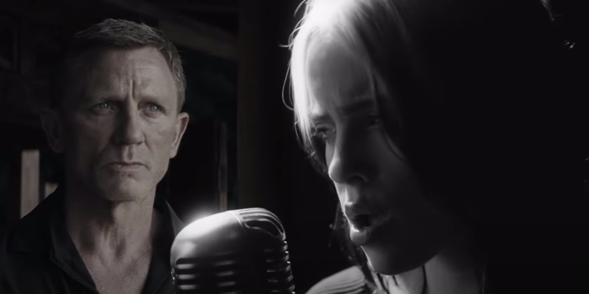 Daniel Craig and Billie Eilish appear in No Time To Die's music video.