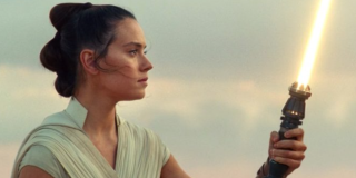 Rey with her yellow saber