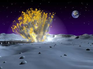 Small Space Rock Spotted Hitting the Moon