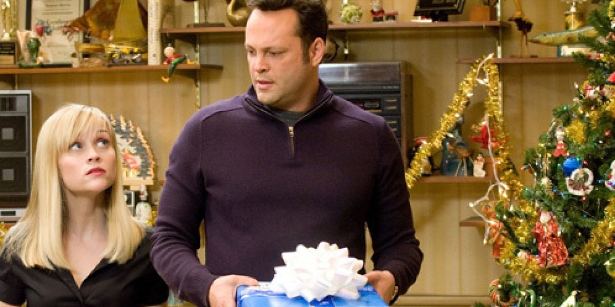 Reese Witherspoon with Vince Vaughn in the movie Four Chrismases.