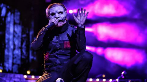 Corey Taylor on stage on the first night of Slipknot's tour with Marilyn Manson