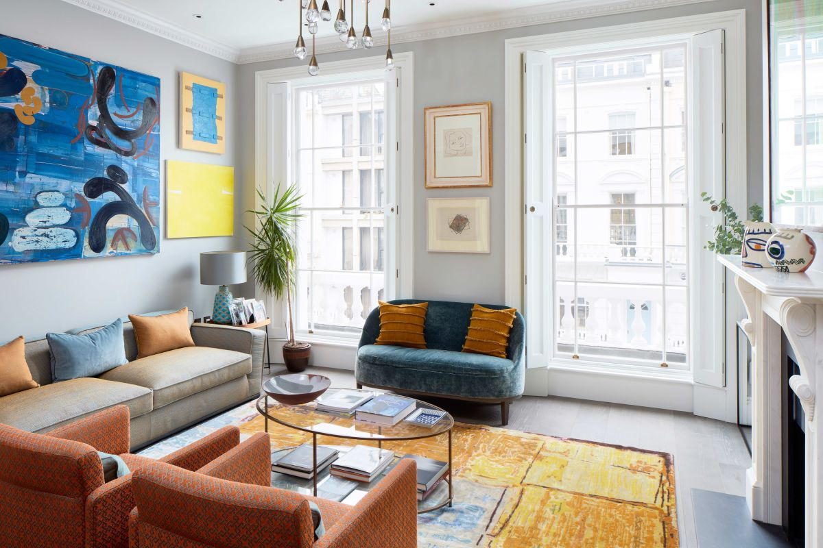 Inside a colorful London townhouse that's filled with unique designs, quirky artwork and bold shades