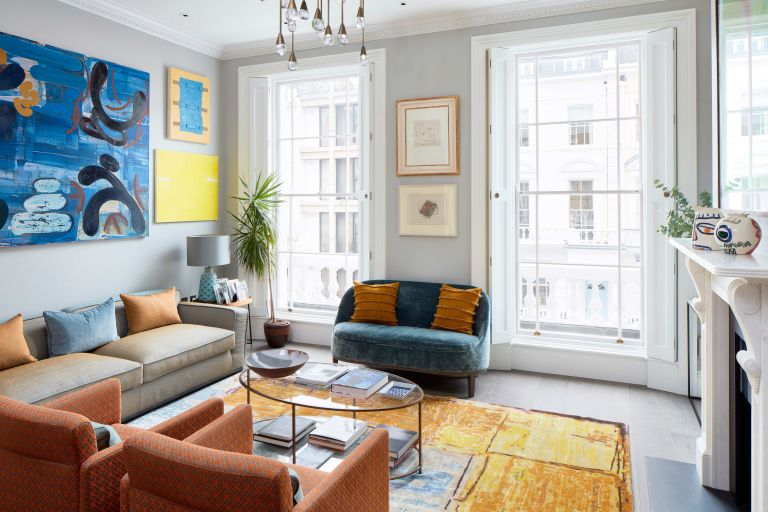 Modern colorful London townhouse
