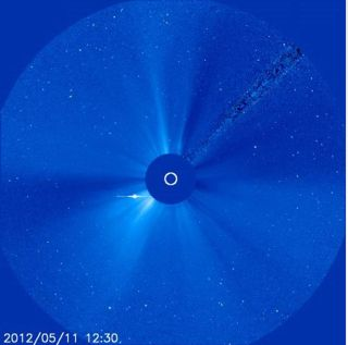 The Solar and Heliospheric Observatory (SOHO), which is jointly managed by NASA and the European Space Agency, took this photo of the sun on May 11, 2012, after recovering from a technical glitch.