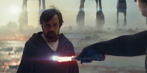 Luke Skywalker displaying his Force projection power